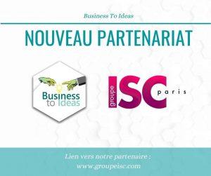 partenariat B2Ideas ISC Paris Orléans